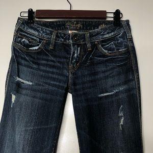 Silver jeans Alex bootcut size 26 dark wash